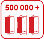 500000+ products per year