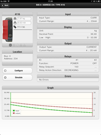 PR electronics PPS app screenshot